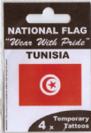 Tunisia Country Flag Tattoos.